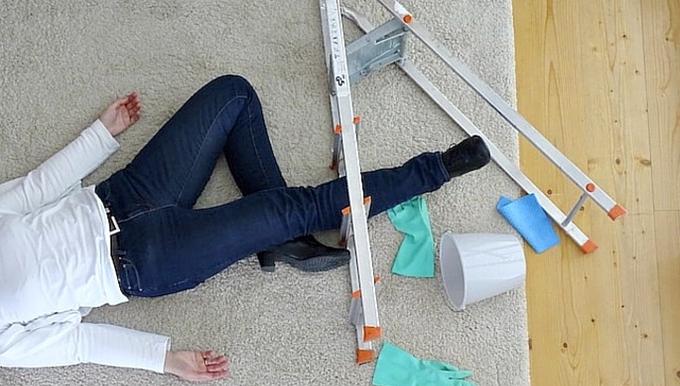 Quitt Unfall Putzfrau