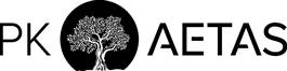 Ein dunkles PK Aetas Logo